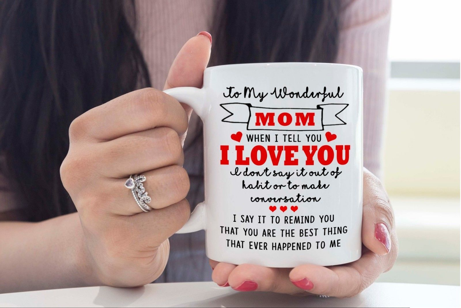 To my Mom I Love You- Best Novelty Funny Gift for Mom Mother's Day Coffee Mug