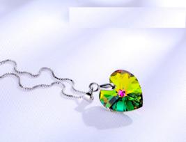 Classic Mini Heart Swarovski Element Necklace Pendant Multi Color - #2021 - $20.69