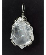 Calcite Crystal Pendant Wire Wrapped .925 Sterling Silver by Jemel - $46.00