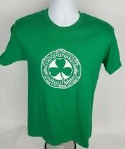 Mens T-Shirt Sz S Sm St Patricks Day Green Drinker Not a Fighter Clover ... - $12.12