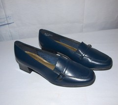 Soft Style by Hush Puppies Blue Loafers Chunky Heel Size 8M - £15.97 GBP