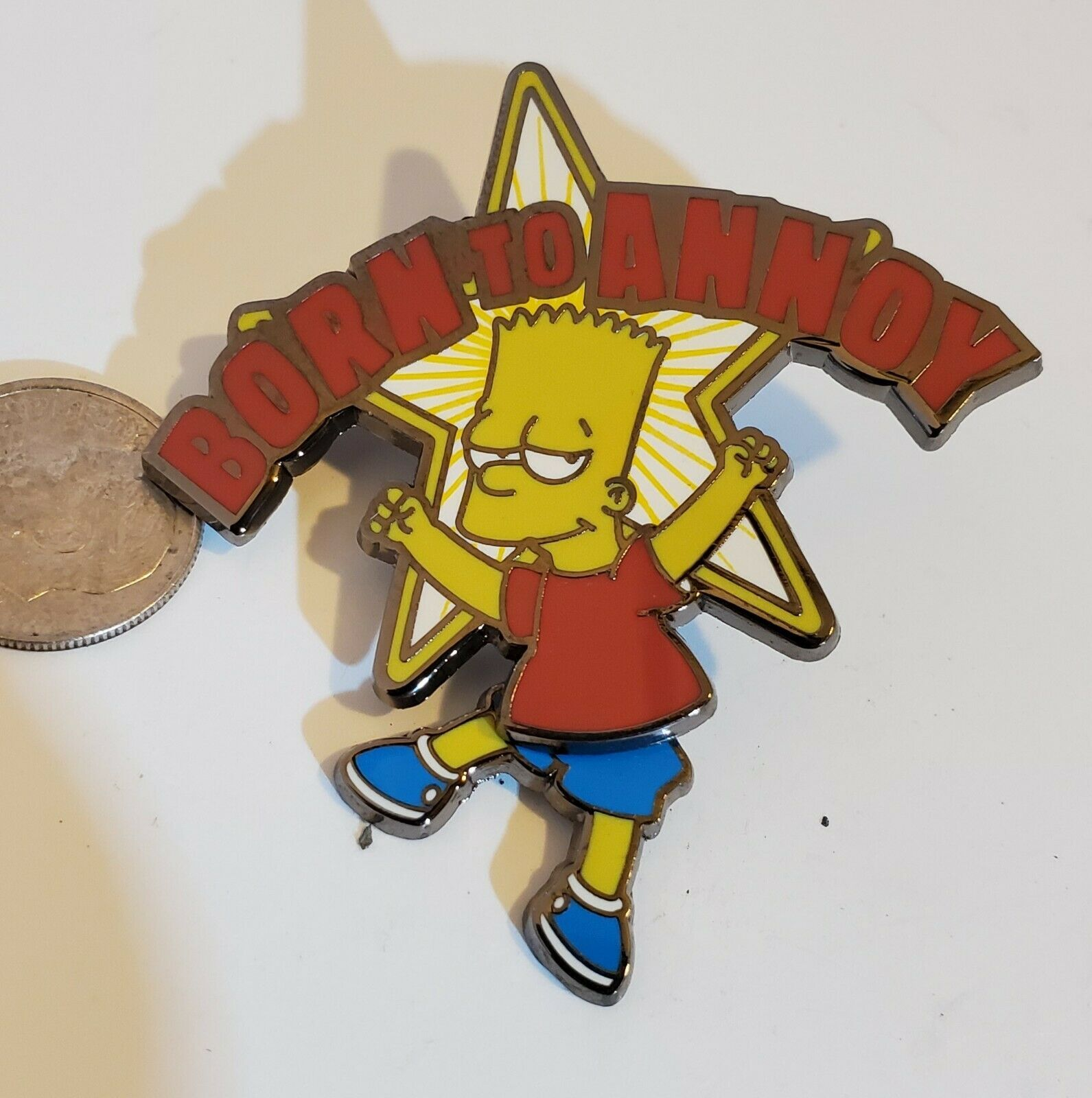 Primary image for Bart Simpson Pin Born to Annoy Universal Studios Swinging Legs Rare! PB01 054
