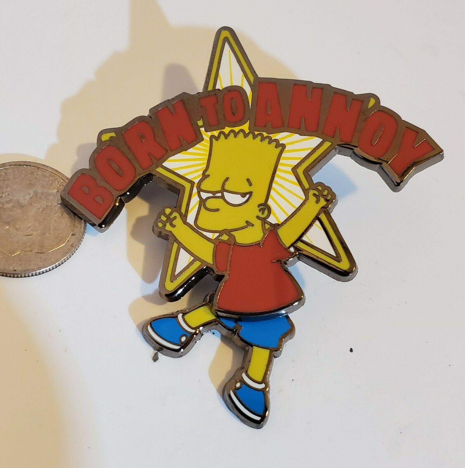 Bart Simpson Pin Born to Annoy Universal Studios Swinging Legs Rare! PB01 054 - $24.18