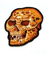 12 INCH Flaming Skull Embroidered Iron On Patch - Biker Motorcycle Back - $12.86