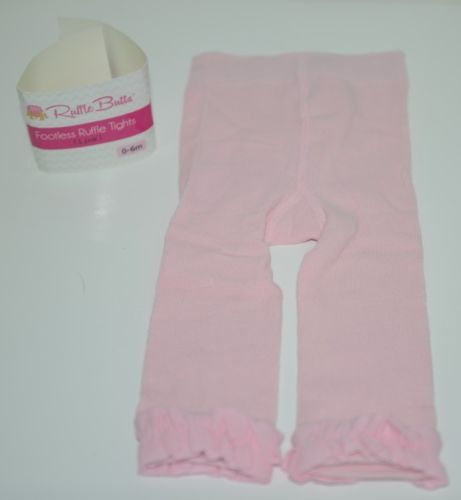 RuffleButts RLKP1000000 Infants Pink Ruffle Footless Tights Size 0 to 6 Months