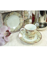 25 Porcelain Coffee Words Cup & Saucer Sets Birthday Party Bridal Weddin... - $90.20