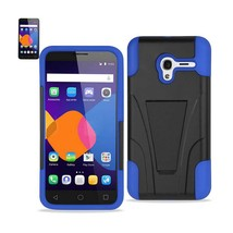 REIKO ALCATEL ONETOUCH PIXI 3 HYBRID HEAVY DUTY CASE WITH KICKSTAND IN N... - $8.36