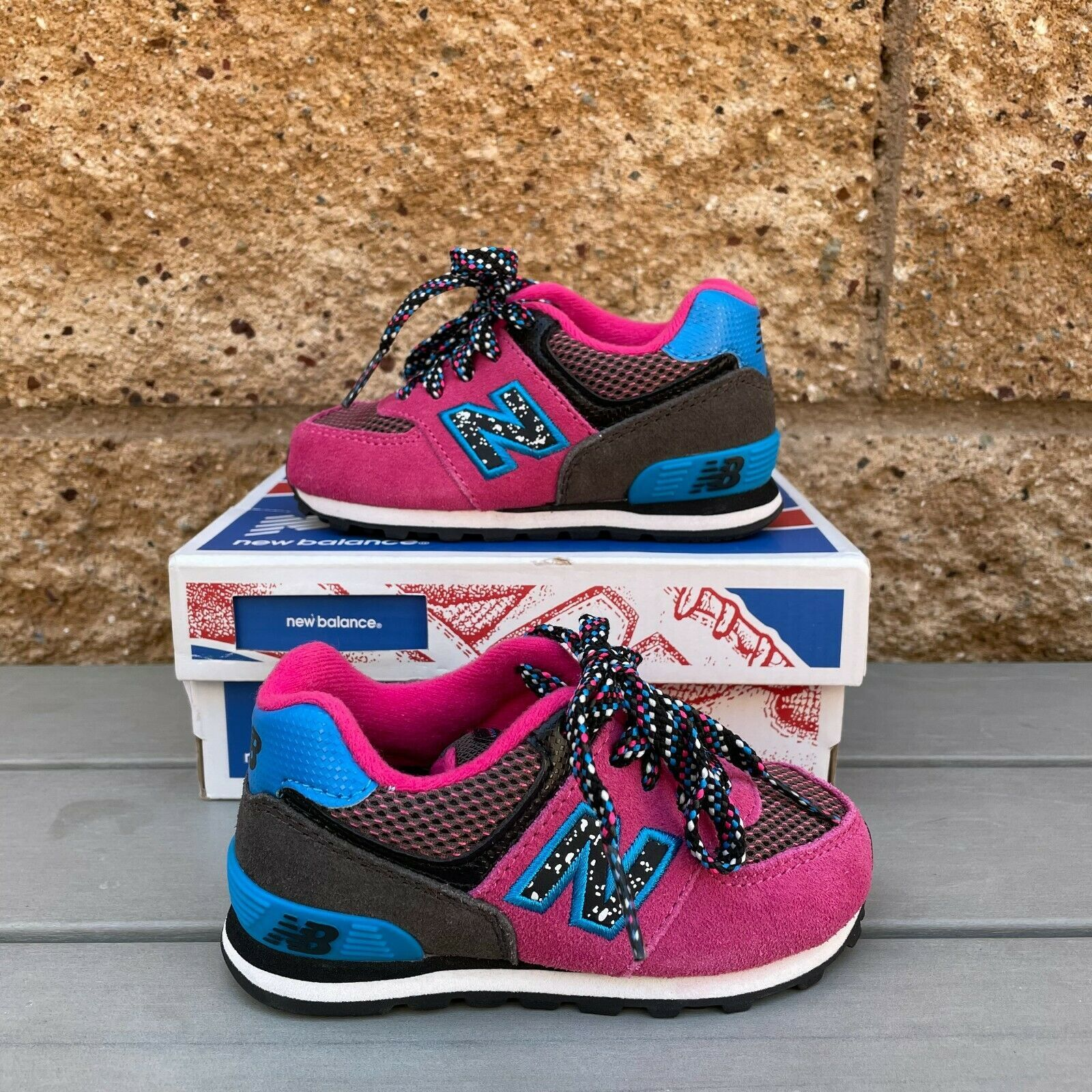 New Balance 574 Little Kid's BERRY/BLUE and 46 similar items