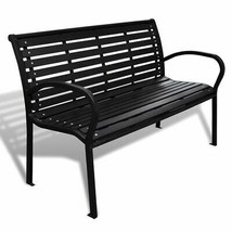 vidaXL Garden Bench Steel Porch Patio Park Path Chair Outdoor Deck Seating - $145.99