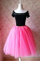Peach PINK A Line ADULT Tutu Skirt Elastic Girl Tutu Tea Length Ballet Skirt NWT