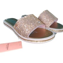 New Juicy Couture YUMMY Rose Gold Bling Gems Glitter Slides Sandals NWT ... - $28.95