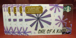 Lot of 10 Starbucks 2017 ONE OF A KIND Gift Cards New with Tags - $40.40