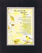 Touching and Heartfelt Poem for Special Friends - I Thank God for My Special Fri - $15.79