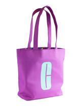 """Clinique Purple w/Aqua """"C"""" Logo Print Big Open Shopping Shoulder Tote Beach Bag - $14.00"""