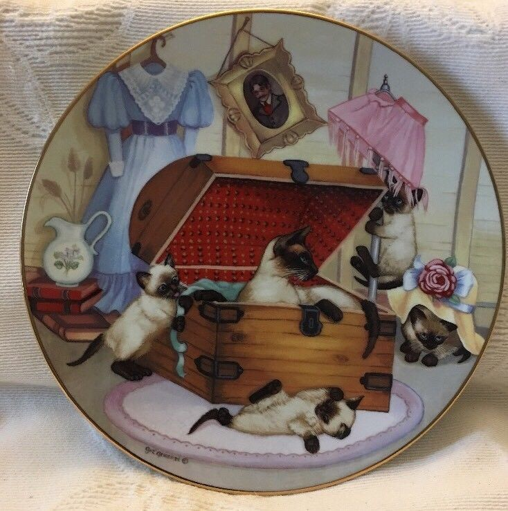 "COUNTRY KITTIES ""ATTIC ATTACK""THE HAMILTON COLLECTION 1988"