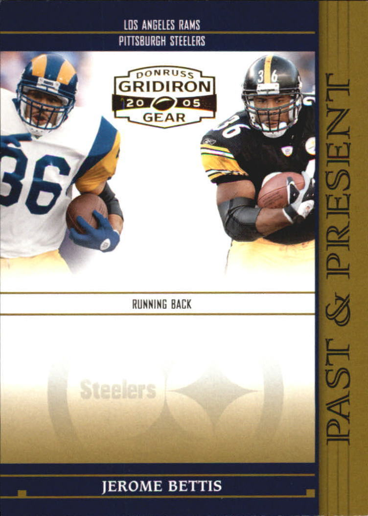 Primary image for 2005 Gridiron Gear Past & Present Gold Jerome Bettis #d 149/750 -STEELERS-