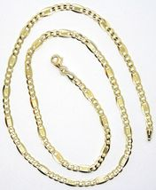 18K YELLOW GOLD CHAIN 4 MM, 19.7 INCHES ALTERNATE GOURMETTE CROSSHATCHING OVALS image 4