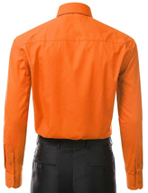 Berlioni Italy Men's Classic Standard Convertible Cuff Dress Shirt - 2XL image 3