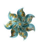 """23.25"""" X 2"""" X 23.25"""" Turquoise Copper and Bronze Metal Medium Flower Wal... - $41.36"""