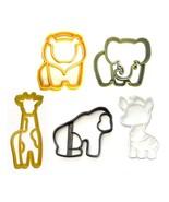 Animal Crackers Circus Zoo Safari Animals Set of 5 Cookie Cutters USA PR... - $13.99