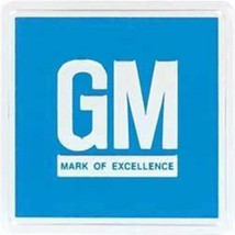 Embossed Blue GM Mark of Excellence Driver Door Jamb Reflector Decal 3M Adhesive - $8.82