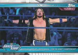 AJ Styles 2019 Topps WWE Road To Wrestlemania Card #67 - $0.99