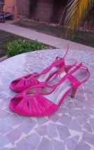 snakeskin open pink 5 7 M sandal high toe NINE NEW WEST faux heel NEW SIZE q4IHx