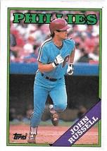 1988 Topps Baseball Card, #188, John Russell, Philadelphia Phillies - $0.99