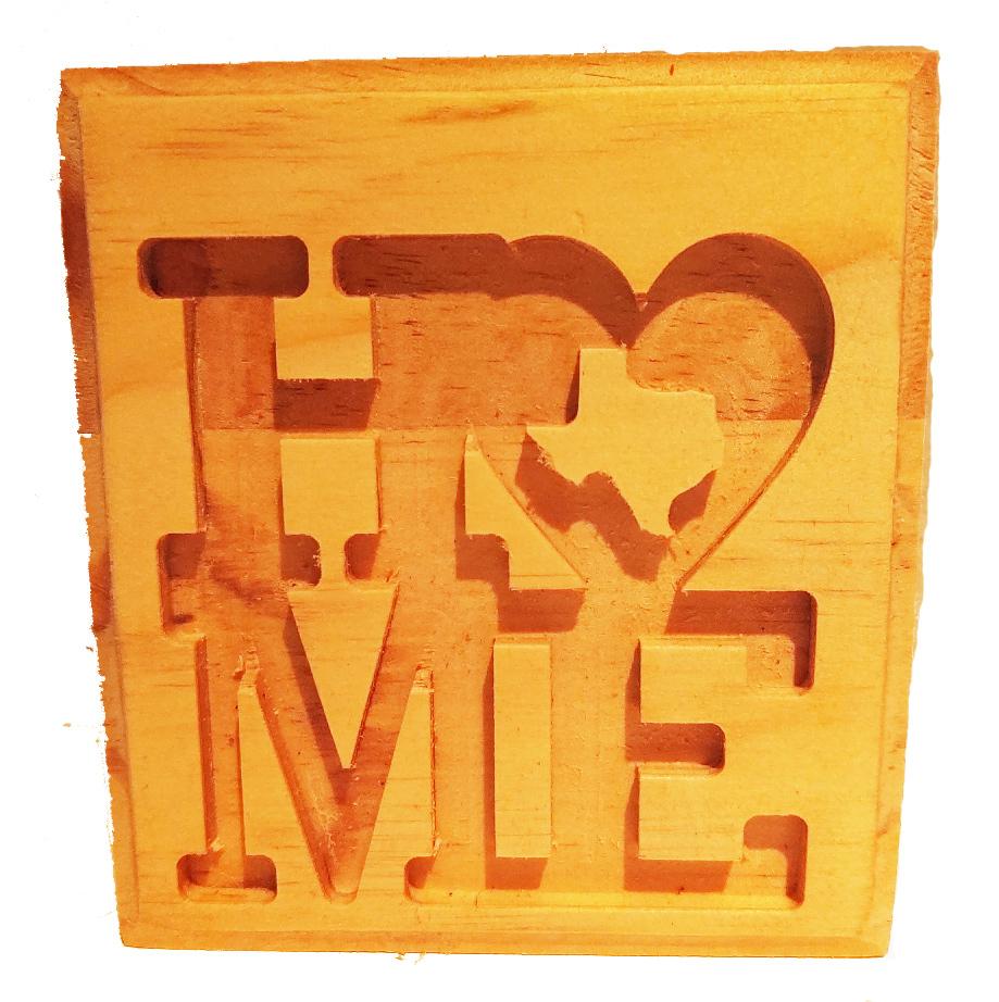 Wood shelf sign-Home (Texas) image 2