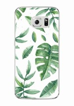 Leaves floral Soft Clear TPU Phone Case Cover For Samsung Galaxy Edge S8 7 - $7.67