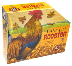 I Am Lil Rooster 100 Piece Jigsaw Puzzle Large 40x19 Animal Shaped Poste... - $14.99