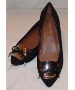 Donald J Pliner Womens Black Slip On Heels 5 1/2 M 5.5 Shoes Dressy Classic - $67.47