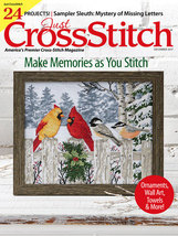 Just Cross Stitch December 2017 magazine issue cross stitch  - $6.99