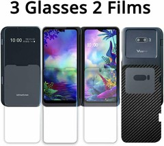[5 in 1] GOBUKEE LG G8X ThinQ Screen Protector [Work with The Dual... - $30.75