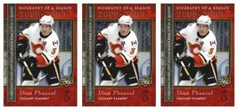 (3) 2008-09 Upper Deck Biography of a Season #BS22 Dion Phaneuf Lot Flames - $3.99