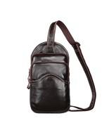 BDF Men Vintage Genuine Leather Bag Chest Pack Daily Phone Cover Shoulde... - $58.09
