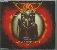 AEROSMITH - I DON'T WANT TO MISS A THING 1998 EU 3 TRACK CD2 COLUMBIA 66... - $12.40