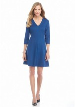 NWT ANNE KLEIN BLUE FLARE CAREER DRESS SIZE 10 $99 - $30.87
