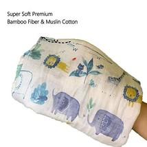 TEALP Baby Swaddle Blanket Unisex Swaddle Wrap Soft Silky Bamboo Muslin Swaddle