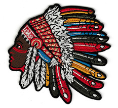 An item in the Crafts category: Native American Girl Headdress Tattoo Back Patch 7 Inch Embroidery Female Shirt