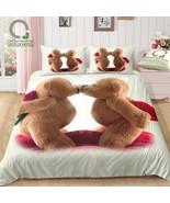 Bomcom 3D Digital Printing Valentine Bedding Two Cute Teddy Bear in Love... - $102.00