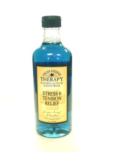 Village Naturals Therapy Stress & Tension Relief Foaming Bath Oil & Body Wash