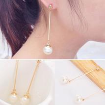 New Fashion Imitation Pearl Stud Pearl Long Dangle Earring - $19.09 CAD