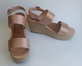 Steve Madden Shoes Sandals Espadrilles Wedge Blush Marian Womens Size 9.5 - $49.46