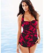 New $142 Magicsuit Women's Mystique Jules Halter Tankini Top Vamp Red Bl... - $79.19