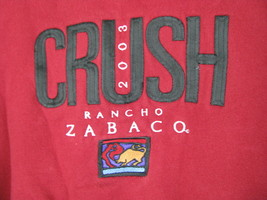 Lee Sueded Dallas Rancho Zabaco Winery Crush Mens Red Crewneck Sweatshirt Large image 2