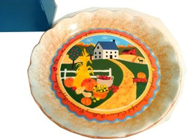 NEW DECORATIVE HARVEST ACCENT AVON PLATE CIRCA 2005 IN ORIGINAL BOX - $19.95