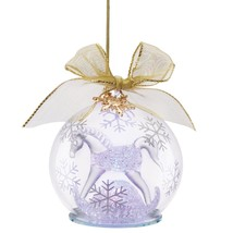 Lenox 2015 Baby's First Christmas Ornament Crystal 1st Rocking Horse Lig... - $49.00