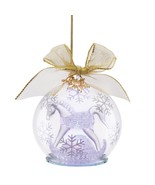Lenox 2015 Baby's First Christmas Ornament Crystal 1st Rocking Horse Lig... - $49.50