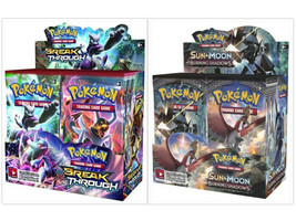 Pokemon TCG Breakthrough + Burning Shadows Booster Boxes Card Game Bundl... - $214.99